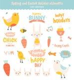 Happy Easter set in vector Stock Image