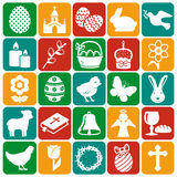 Happy Easter! Set of vector icons. Royalty Free Stock Photo
