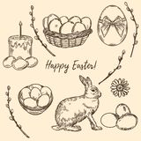 Happy Easter set 1 royalty free illustration