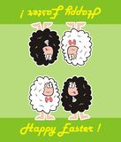 Happy easter, sheep Stock Image