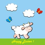 Happy easter, sheep Royalty Free Stock Photos