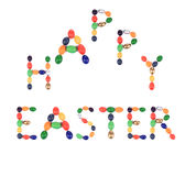 Happy Easter sign for holiday. Royalty Free Stock Images