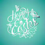 Happy Easter sign, symbol, logo Stock Images