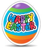 Happy Easter sign theme image 1. Vector illustration Stock Images