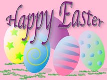 Happy Easter signage large letters Royalty Free Stock Images