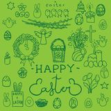 Happy Easter signs set. Isolated. Vector Royalty Free Stock Photography