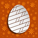 Happy Easter - simple shape of egg Royalty Free Stock Images