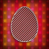 Happy Easter - simple shape of egg Stock Image