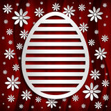 Happy Easter - simple shape of egg on red background Royalty Free Stock Images