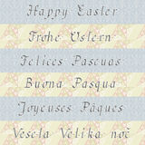 Happy Easter (in six different languages) Stock Photography