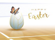 Happy Easter. Sports greeting card. Volleyball royalty free illustration