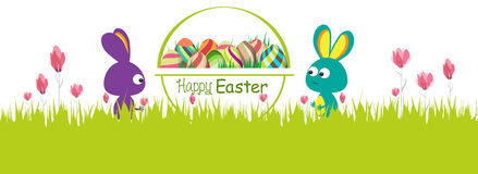 Happy easter. Spring banner Stock Photo