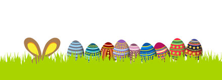 Happy easter. Spring banner Royalty Free Stock Photos