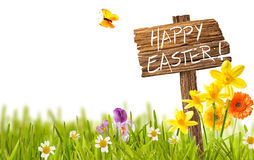 Happy Easter spring countryside card