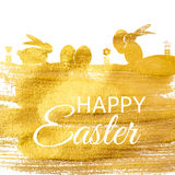 Happy Easter Spring Holiday Background Illustration Stock Images