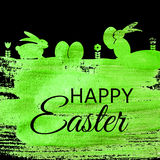 Happy Easter Spring Holiday Background Illustration Stock Photo