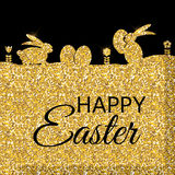 Happy Easter Spring Holiday Background Illustration Stock Photos