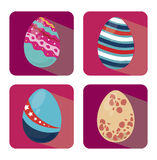 Happy easter squares Royalty Free Stock Photos