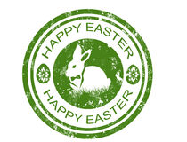 Happy easter stamp Royalty Free Stock Photos