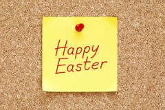 Happy Easter Sticky Note Stock Photo