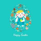 Happy easter 4 Stock Image