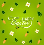 Happy Easter with stylish text on decorative background Royalty Free Stock Photography