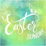 Happy Easter Sunday colorful lettering. Hand written Easter phrases. Seasons Greetings Royalty Free Stock Photos