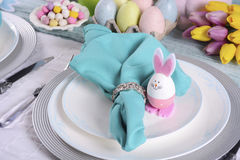 Happy Easter Table Setting. Stock Image