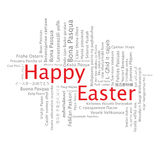 Happy Easter tag cloud Stock Image