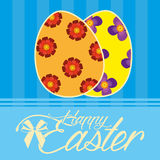 Happy Easter Template For A Card Royalty Free Stock Image