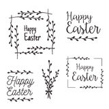 Happy Easter templates, labels, borders Royalty Free Stock Photography