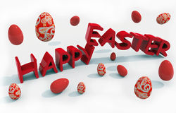 Happy easter text Royalty Free Stock Photo