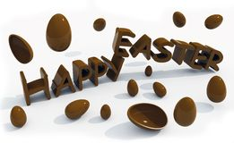 Happy easter text Stock Photos