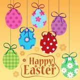 Happy Easter theme with ornamental eggs Royalty Free Stock Photography