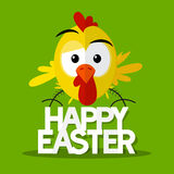 Happy Easter Title with Chick Royalty Free Stock Images