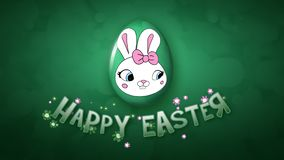 Happy Easter animation title trailer 30 FPS bubbles dark green
