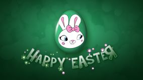 Happy Easter animation title trailer 25 FPS bubbles dark green