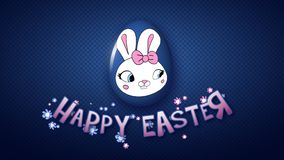 Happy Easter animation title trailer 25 FPS dots dark blue