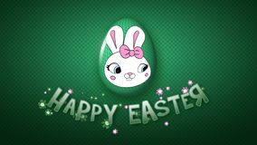 Happy Easter animation title trailer 30 FPS dots dark green