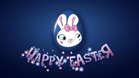 Happy Easter animation title trailer 50 FPS dots dark blue