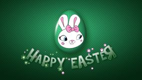 Happy Easter animation title trailer 25 FPS dots dark green