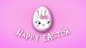 Happy Easter animation title trailer 30 FPS dots pink
