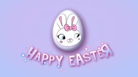 Happy Easter animation title trailer 25 FPS dots pink babyblue