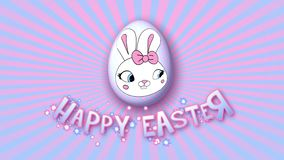 Happy Easter animation title trailer 50 FPS infinity pink babyblue