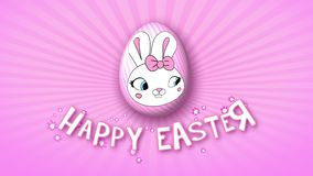 Happy Easter animation title trailer 25 FPS infinity pink