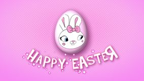 Happy Easter animation title trailer 50 FPS dots pink