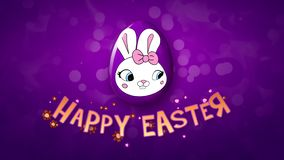 Happy Easter animation title trailer 30 FPS bubbles violet/purple