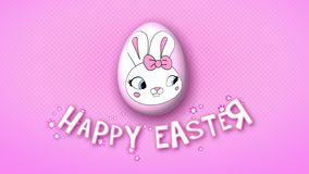 Happy Easter animation title trailer 25 FPS dots pink