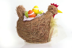 Happy Easter. The traditional set for Easter Holiday on a white background Royalty Free Stock Photography