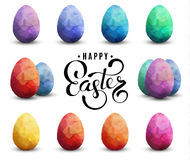 Happy Easter Transparent Vector template with eggs set vector illustration